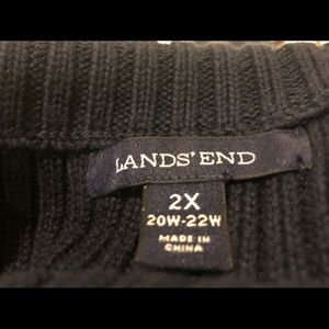 Lands' End Sweaters - Lands End navy blue ribbed short sleeve sweater